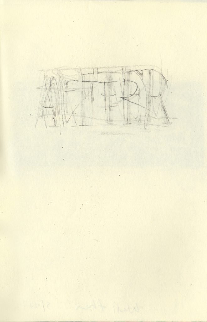 """AFTER 5.5 x 8.25"""" 2020 Pencil on Sketchbook Pages"""