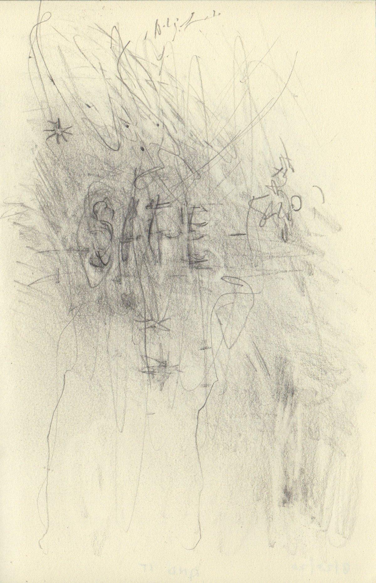 """SAFE 5.5 x 8.25"""" 2020 Pencil on Sketchbook Pages"""
