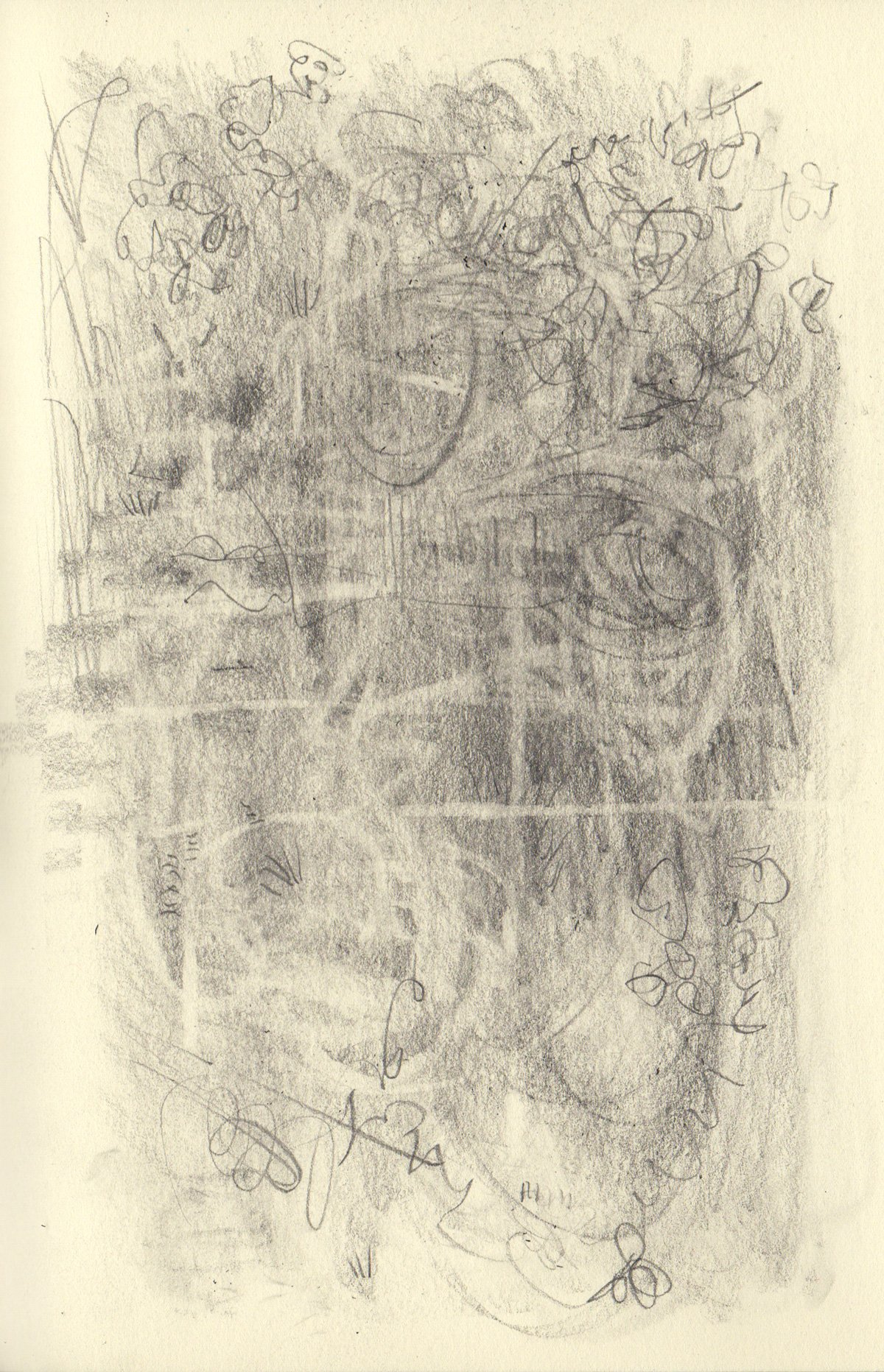 """GO TO 5.5 x 8.25"""" 2020 Pencil on Sketchbook Pages"""